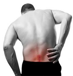 man sufferign from severe back pain in New Jersey